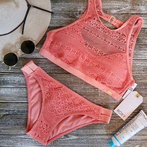 Roxy Surf Memory Crop Bikini Top and Bottoms